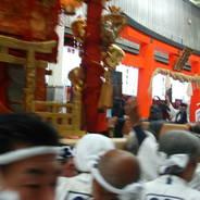 祇園祭 還幸祭 東御座神輿 八坂御供所