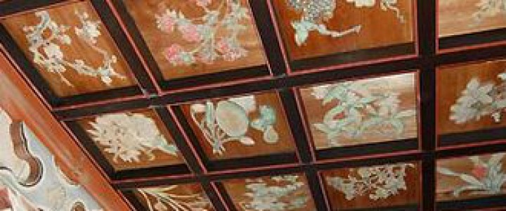 平岡八幡宮 2018  秋の特別拝観「花の天井」