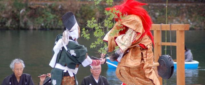 花魁ともみじの競演:嵐山もみじ祭