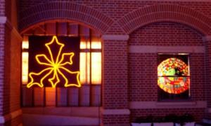 冬の街あるき・平安女学院アグネス・イルミネーション