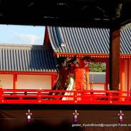 京都御所秋季一般公開   京都御所 新御車寄 五節舞 月華門