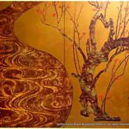 観梅 花見  国宝紅白梅図屏風 尾形光琳