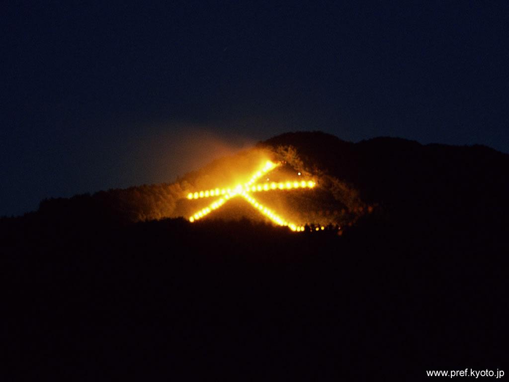 大文字の山の上から/五山の送り火