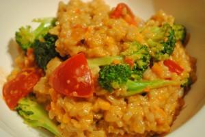 ブロッコリーとトマトの玄米リゾット