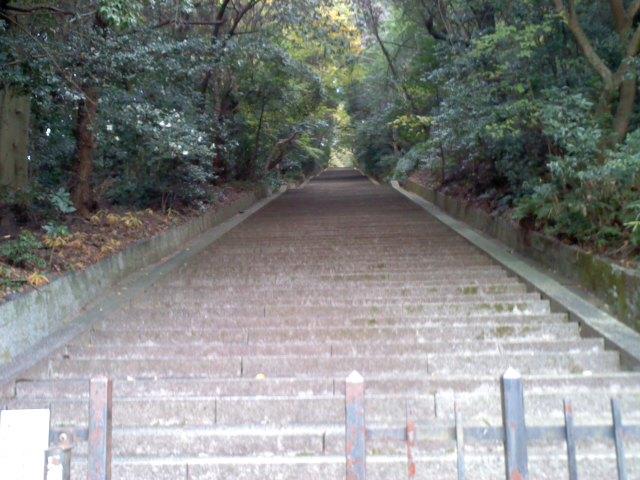 豊臣秀吉の墓へ行く石段