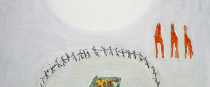 おぼろ月に輪舞する子供達 (絶筆) 1968年