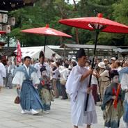 祇園祭 稚児社参 八坂神社