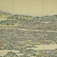 文化遺産 「花洛一覧図(1808年版)」 横山華山