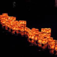 嵐山灯籠流し 嵐山渡月橋