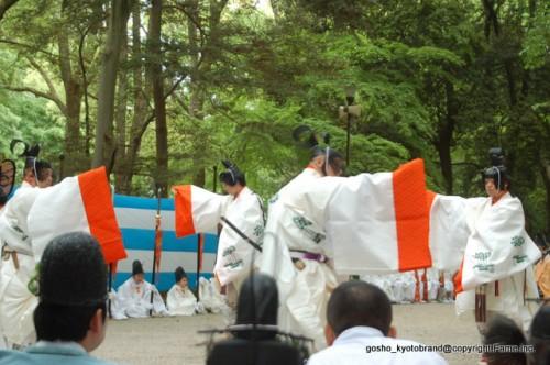 葵祭を見守る御蔭祭  下鴨神社