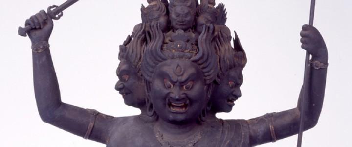 重要文化財 木造彩色 大威徳明王坐像(明円作)