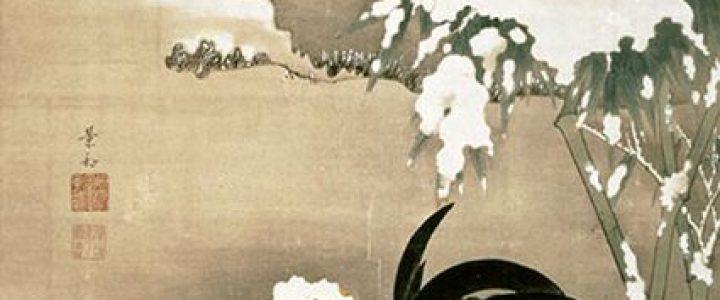 伊藤若冲『雪中雄鶏図』