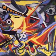 岡本太郎「燃える人」1955年 東京国立近代美術館