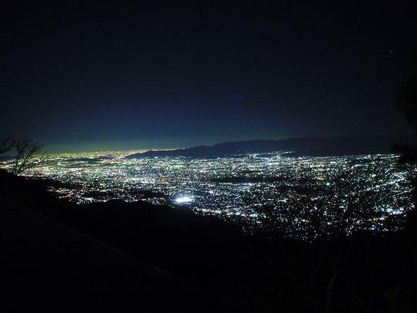 山頂からの夕涼み