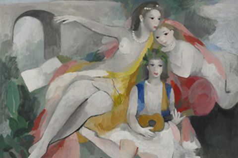 """Three young girls"" 1953年頃 / Oil on canvas"