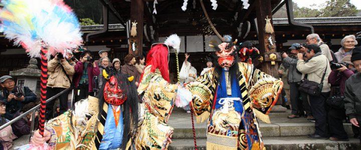 石見神楽の鬼が来る★松尾大社節分祭