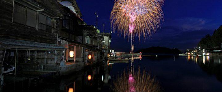 日本で最も美しい村 伊根町の花火2017/海の京都