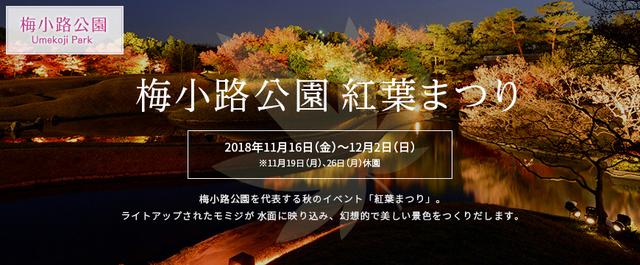 梅小路公園 「紅葉まつり」2018