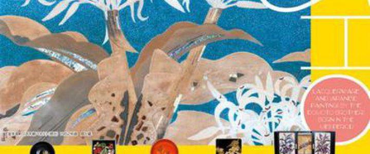 漆芸家と日本画家の初の兄弟展 戦前の豪華客船の飾扉を特別展示
