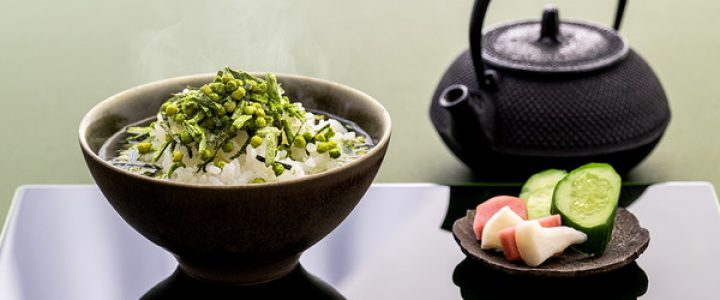 祇園辻利 、抹茶のお茶漬けと碾茶のふりかけ