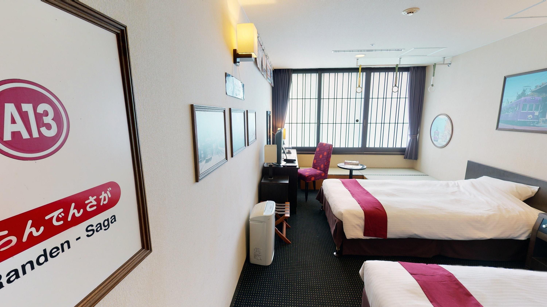 [event_today]京都タワーホテル × 嵐電 「嵐電トレインルーム」