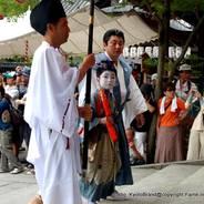 祇園祭 生稚児結納の儀 稚児社参  八坂神社