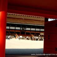 京都御所秋季一般公開   京都御所 紫宸殿 回廊