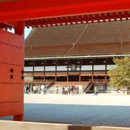 京都御所秋季一般公開  京都御所 回廊 紫宸殿