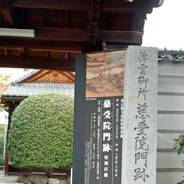京都非公開文化財特別公開 慈受院門跡 日野栄子