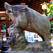 狛犬巡り 護王神社 和気清麻呂 和気広虫姫命